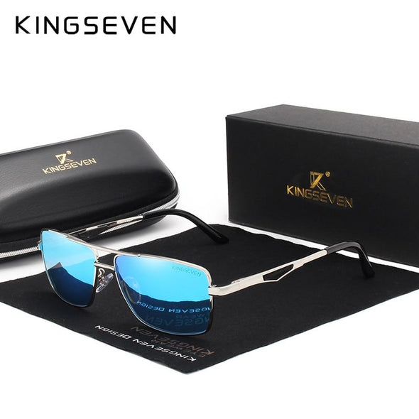 Classic Square Polarized UV400 Men's Driving Sunglasses Blue - fingla.com