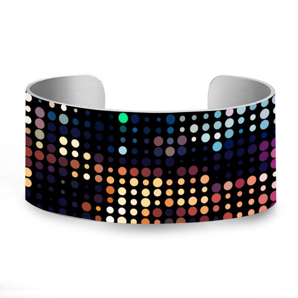 Colorful Neon light Van Gogh Artist UV printing Aluminum Bangle Jewelry Gift colour-2 - fingla.com
