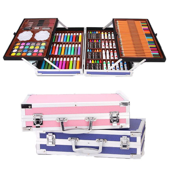 Deluxe Double Aluminum Box Professional Painting Art Creative Set - fingla.com