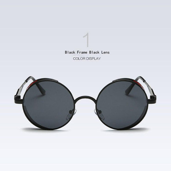 Gothic Fashion Sunglasses Retro Black Black - fingla.com
