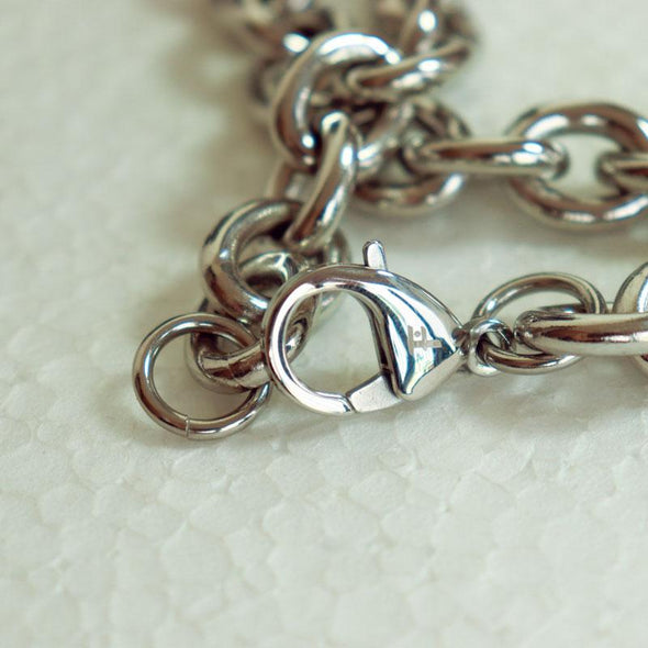Fingla Originate High Polished Link Chain 316L Stainless Steel Silver Color Necklace - fingla.com in Bangladesh
