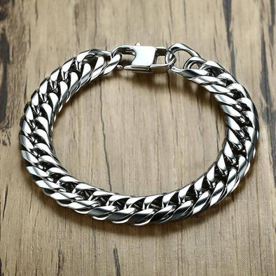 High Quality Stainless Link Chain Bracelets Steel Wrist Band Jewelry Best Gift - fingla.com