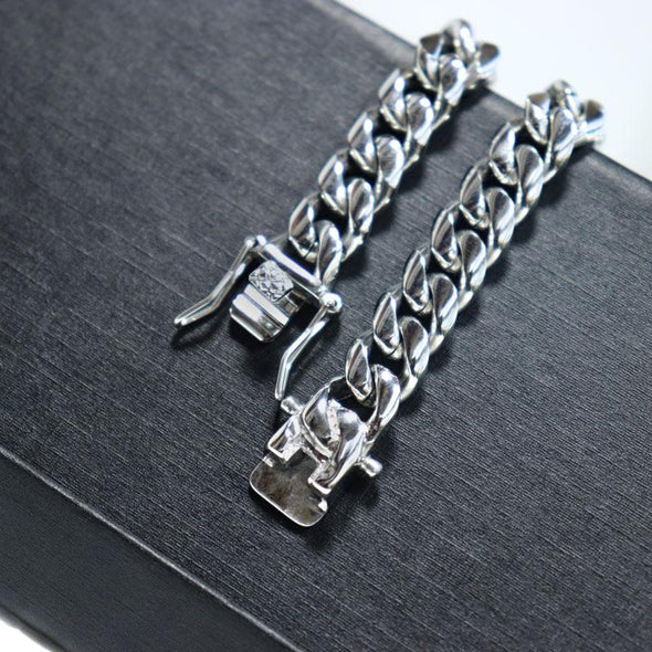 Latest Design 10mm Wide 316L Stainless Steel Silver Color Jewelry Necklace - fingla.com