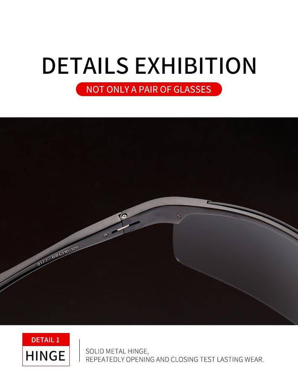 Luxury Aluminum Polarized HD Men Sunglasses Silver Gray - fingla.com