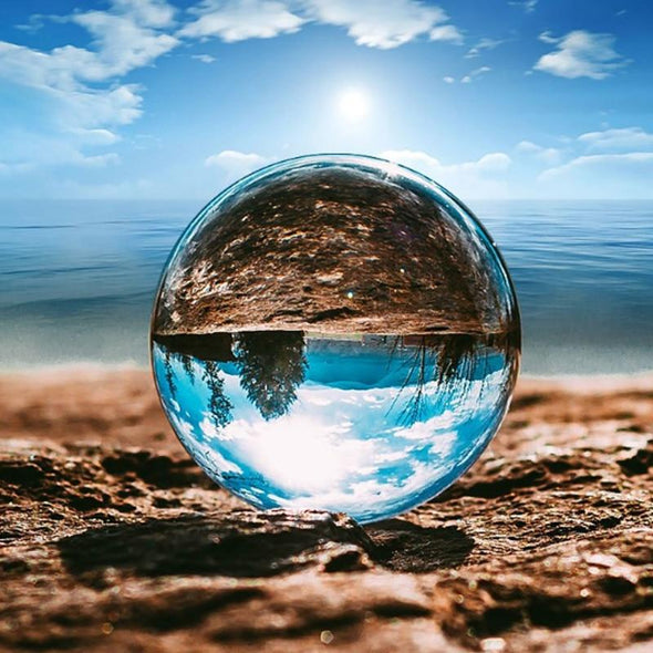 Photography Lense Ball Natural Crystal Quartz Glass Travel Take Pictures Decorative Balls - fingla.com