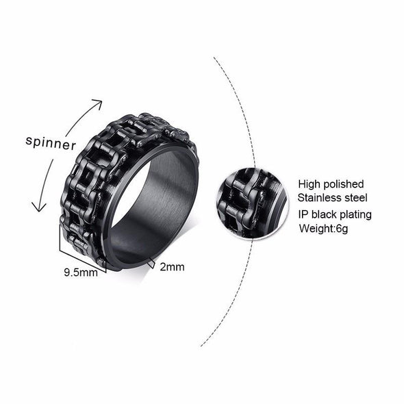 Punk Rotatable Bike Chain Ring Stainless Steel - fingla.com