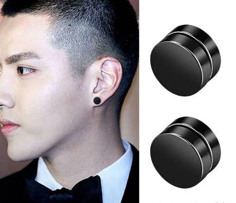 Round Magnet Stud Earrings Stainless Steel High Magnetic - fingla.com