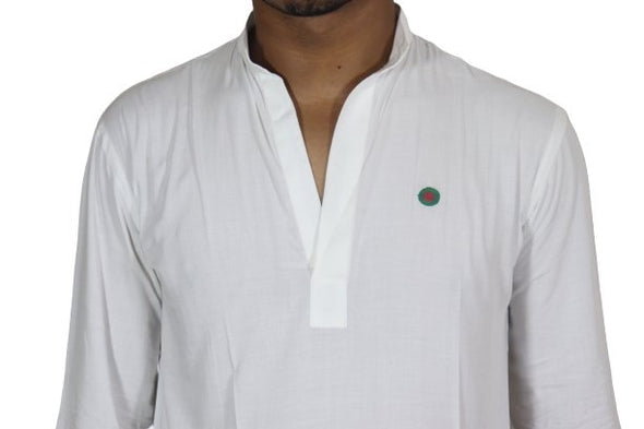 Short White Balck Fingla New Style Punjabi Set Bangladesh Flag - fingla.com