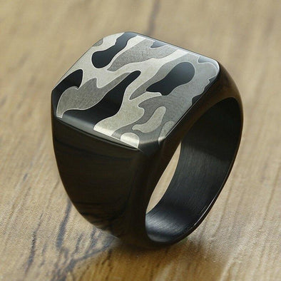 Soldier Stainless Steel 18mm Punk Signet Rings for Tough Man Gift - fingla.com