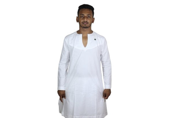 V-Neck White Fingla New Design Punjabi Bangladesh Flag - fingla.com