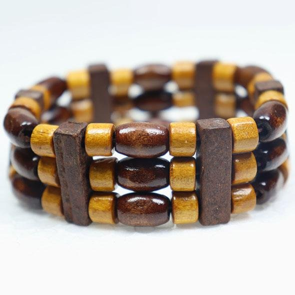 Vintage wooden bead cuff fashion jewelry bracelets-3 - fingla.com