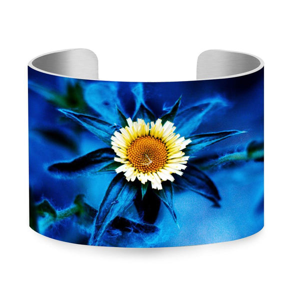 Yellow flowers Colorful UV Printing Aluminum Bangle Wristband Jewelry Gift colour-3 - fingla.com