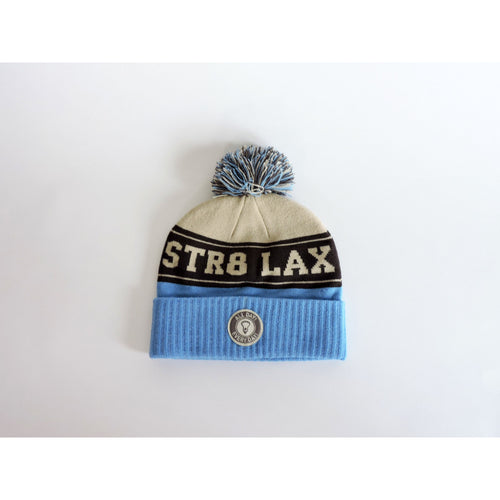 STR8 LAX Premier Beanie Carolina/Grey/White