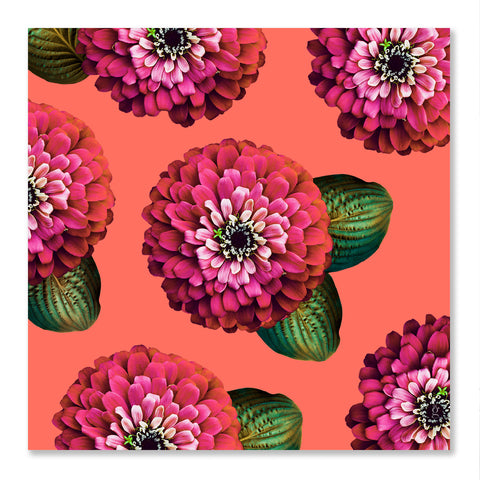 CHARMAINE - Carmine Rose on Coral Wall Art