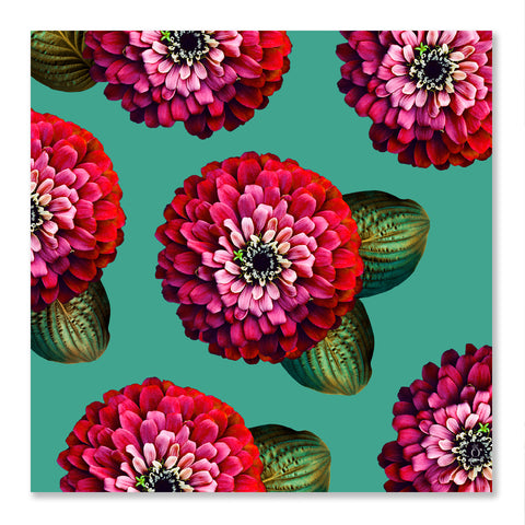 CHARMAINE - Chili Pepper on Marine Green Wall Art