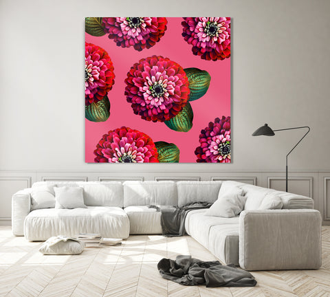 CHARMAINE - Chili Pepper on Carmine Rose Wall Art