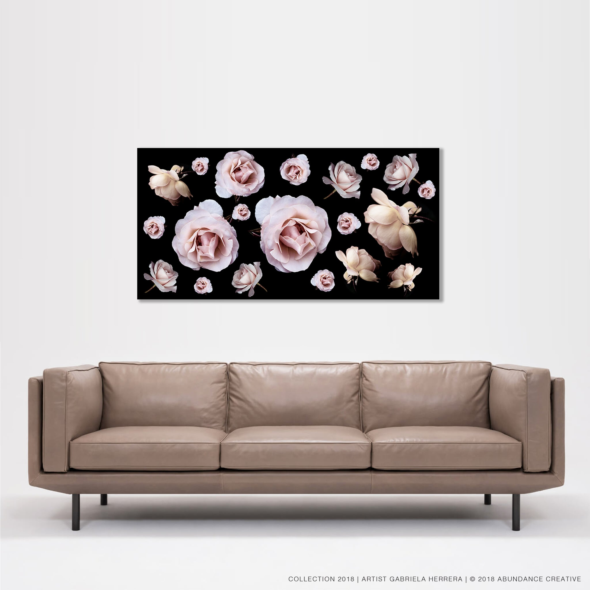 Chanel Rose Party - Wall Art Mounted Under Acrylic Glass