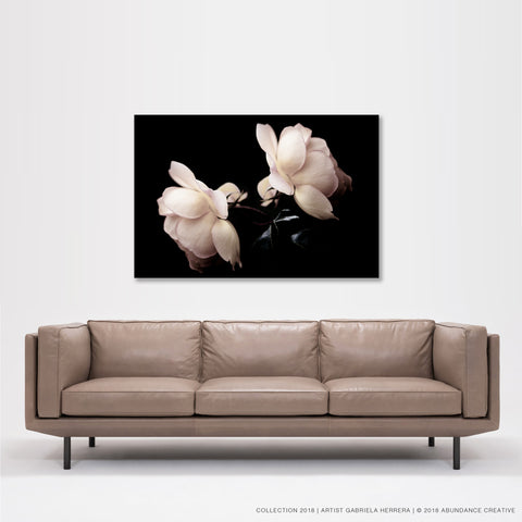 Chanel Rose Friendship - Wall Art Mounted Under Acrylic Glass