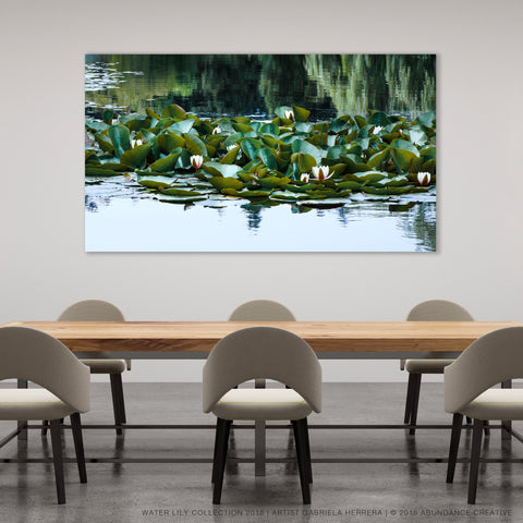 Water Lily No.3 - Wall Art Mounted Under Acrylic Glass