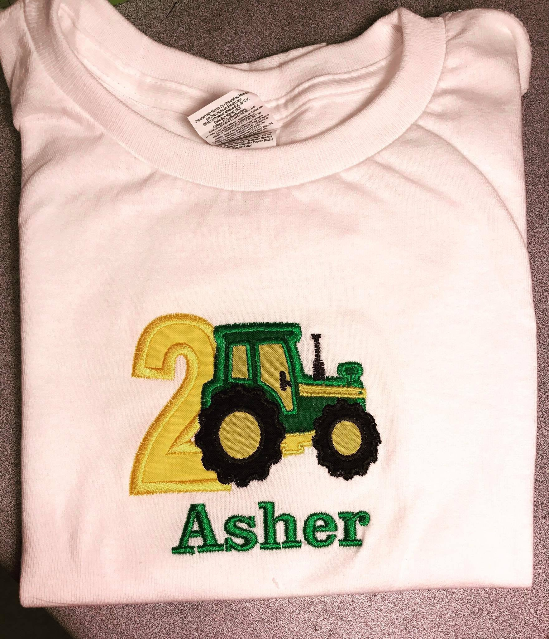 2nd Birthday Applique Tees