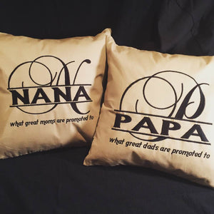 Grandparents Custom Embroidered Pillow - FigWear