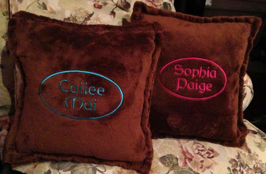 "Personalize Tahoe Micro Fleece 15"" Square Pillow"