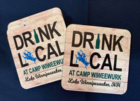 Drink Local Custom Hard Board Printed Coasters
