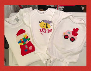 Valentine's Day Appliqué Shirts