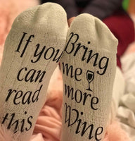 If You Can Read These... Wine Socks