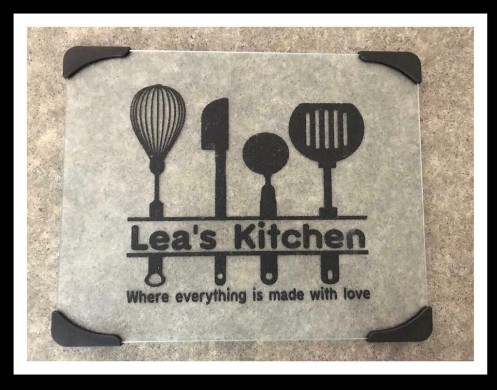 Personalized Glass Cutting Board - FigWear