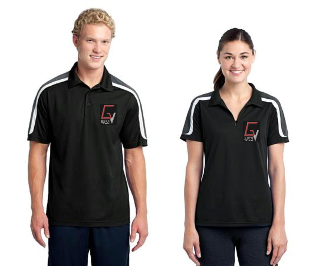 GV BOYS TEAM Tricolor Shoulder Micropique Sport-Wick® Polo.