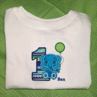 1st Birthday Custom Appliqué Tees