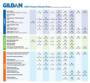 Gildan All Size Chart