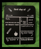 First Day of School Chalkboard - FigWear