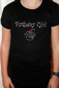 Birthday Girl Rhinestone Tee