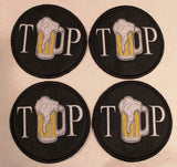 Custom beer coasters