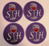 custom wine coasters
