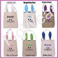 Custom Embroidered Bunny Ear Easter Bags