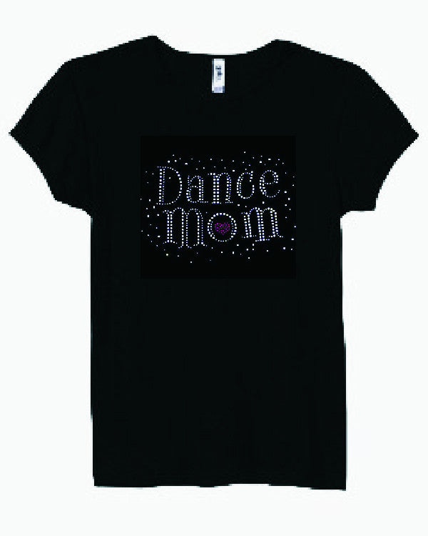 Dance Mom Rhinestone Tee