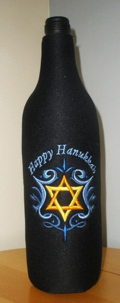 Hanukkah Wine Bottle Koozie - FigWear