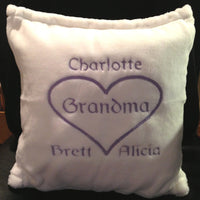 Mom/Nana/Grandma Personalized Tahoe Micro Fleece Pillow