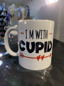 I'm with Cupid Mug