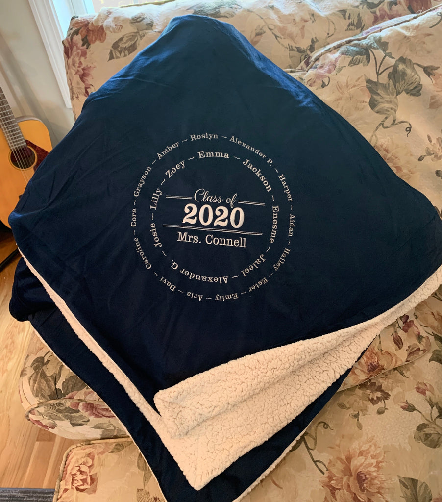 Custom Embroidered Class Blanket