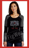 Raised by Elves! Tri-Blend Raglan