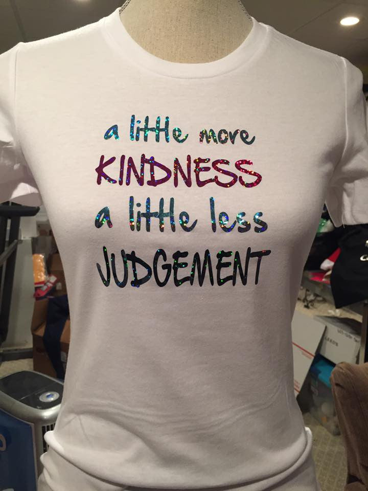 More Kindness Less Judgement Holographic Tee