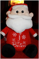 Custom Embroidered Santa Stuffie w/Electronic Music Button