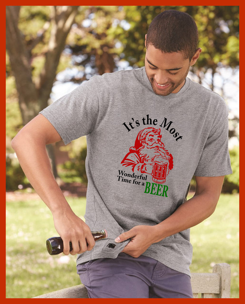 Christmas Beer Opener Tees