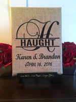 Custom Embroidered Wedding Canvas