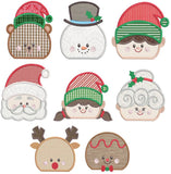 Christmas Fleece Lined Kids Appliqué Beanie