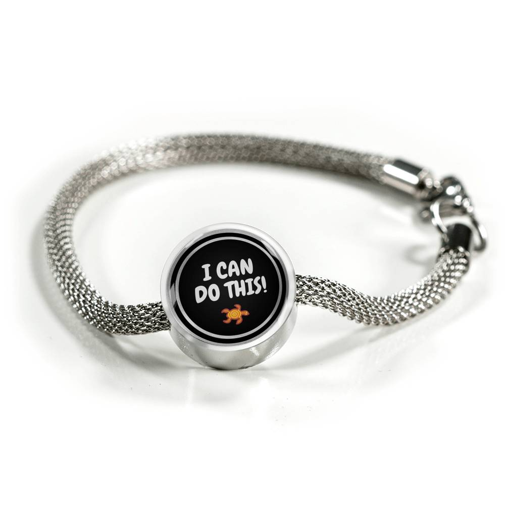 I Can Do This! Silver Bracelet